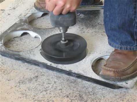 cutting large diameter holes in raised floor tiles cht