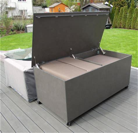 Lounge Kissen Aufbewahrung by Kissentruhen Rege Outdoorm 246 Bel Und Gartenm 246 Bel