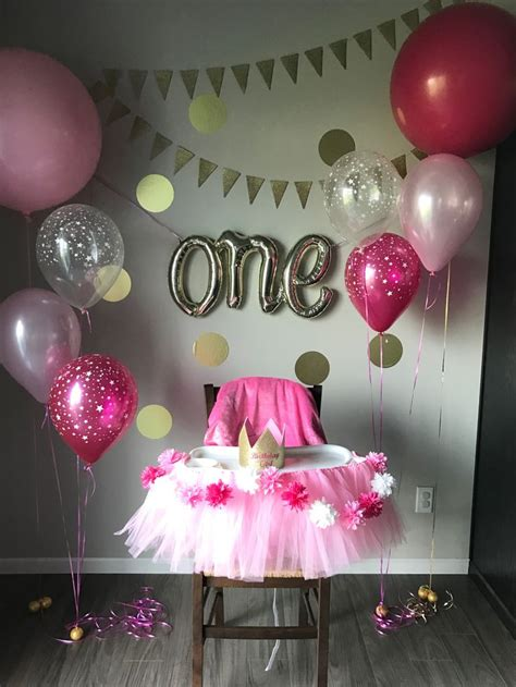 girl 1st birthday party themes diy baby girl birthday party ideas p wall decal