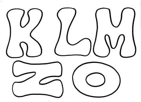 cantinho do saber bylu moldes de letras para mural