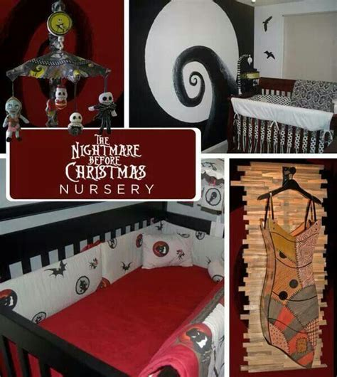 nightmare before christmas baby room christmas decorating