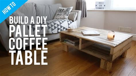 build  diy rustic pallet coffee table youtube