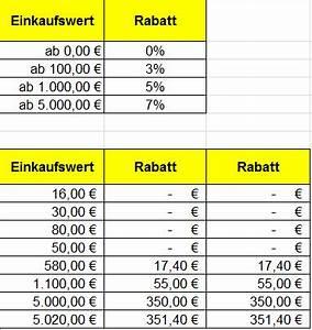 Rabatt Berechnen Formel : excel professionell nutzen schulung und beratung ~ Themetempest.com Abrechnung