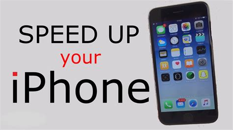 how to speed up a iphone or in 5 simple steps