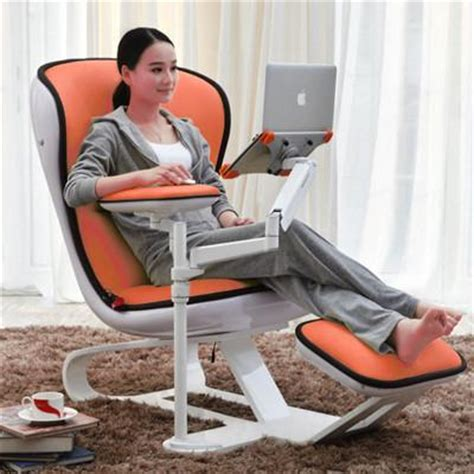 ergonomic chair recliner wth laptop tablet arms