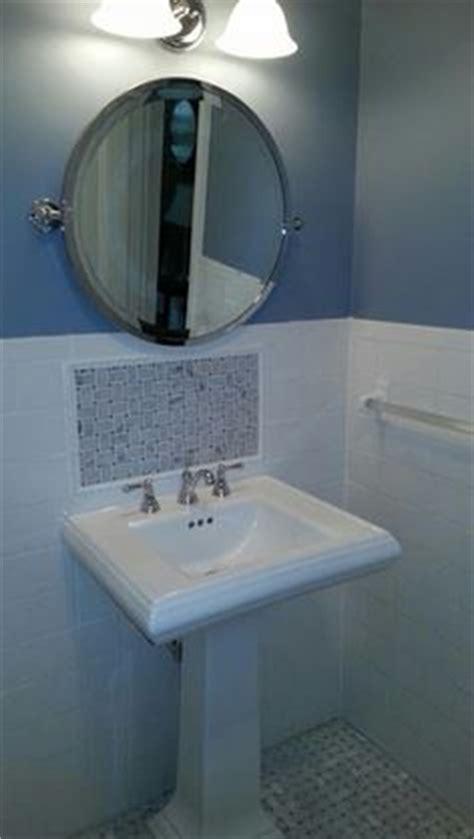 pedestal sink with built in backsplash pedestal sink backsplash ideas bathroom sink backsplash
