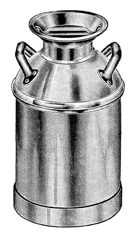 Free Vintage Image Gem Pattern Milk Can Clip Art   Old Design Shop Blog