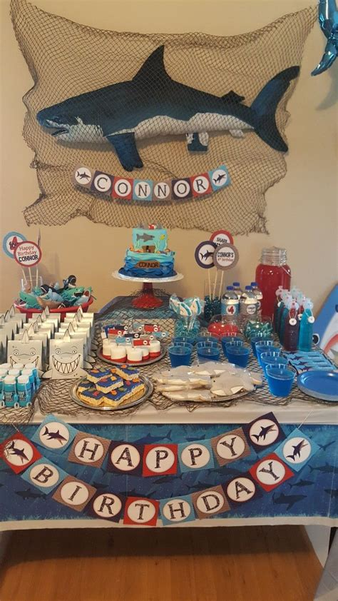 shark themed birthday party shark themed birthday