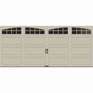 clopay gallery collection 16 ft x 7 ft 65 r value With 5ft garage door