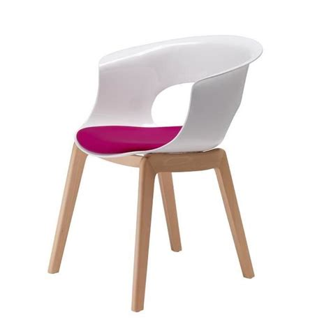 chaise avec pied en bois chaise blanche avec pied en bois clair 20171014112930
