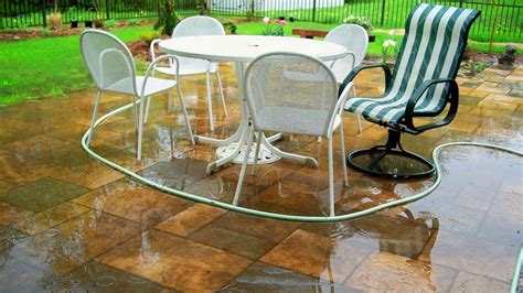 rid  standing water   patio home