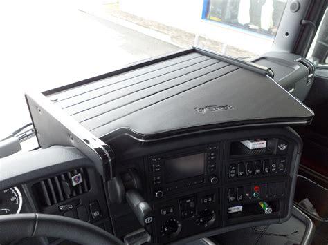 Interni Scania R - tavolo porta oggetti in similpelle per scania r e streamline