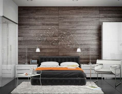 schlafzimmer ideen gestaltung modernes schlafzimmer mit origineller wanddeko und