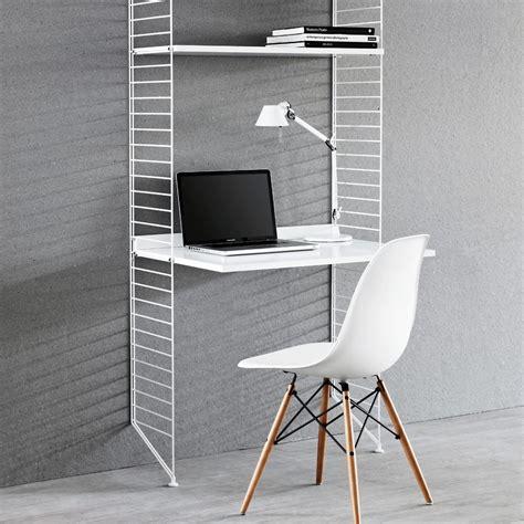 etagere de bureau bureau étagères blanc blanc string design enfant