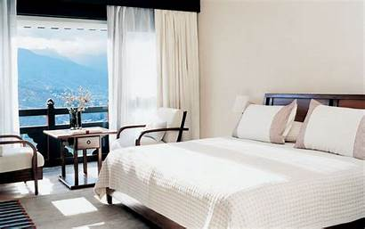 Hotel Table Bed Background Balcony Chairs