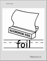 Foil Coloring Phonics Abcteach Aluminum sketch template