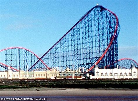Workers Climb Blackpool's 235ft Tall The Big One Roller