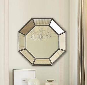 octagon shaped paneled mirror With octagon bathroom mirror