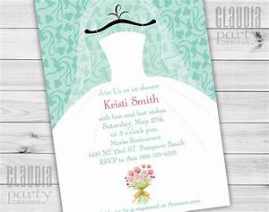 wedding dress bridal shower invitations claudia party With wedding dress bridal shower invitations