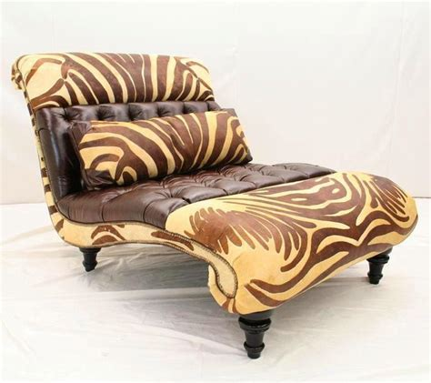 chaise zebre zebra chaise rustic seating leather chaise anteks