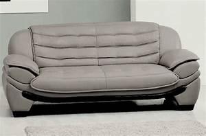Canapé Cuir Gris Clair : canap 2 places en cuir italien benson gris clair mobilier priv ~ Teatrodelosmanantiales.com Idées de Décoration
