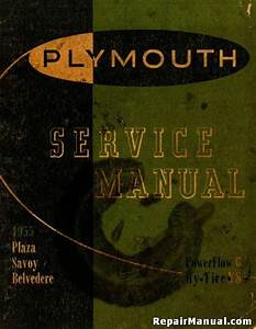 1955 Plymouth Plaza Savoy Belvedere Service Manual