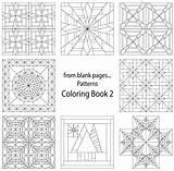 Coloring Quilt Pages Printable Blank Pattern Crazy Patterns Quilting Template Sheets Adult Colouring Templates Star Beginners Fromblankpages Line sketch template