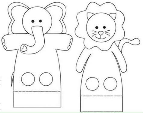 finger puppet worksheets elephant preschool  homeschool
