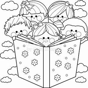 Kid Reading Clipart Black And White | www.pixshark.com ...