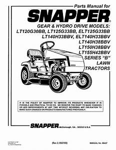Snapper Lawn Mower Lt140h38bbv User Guide