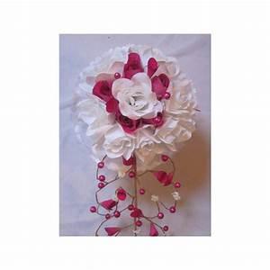 Bouquet De La Mariée : bouquet de mari e cascade original blanc fuchsia avec des ~ Melissatoandfro.com Idées de Décoration