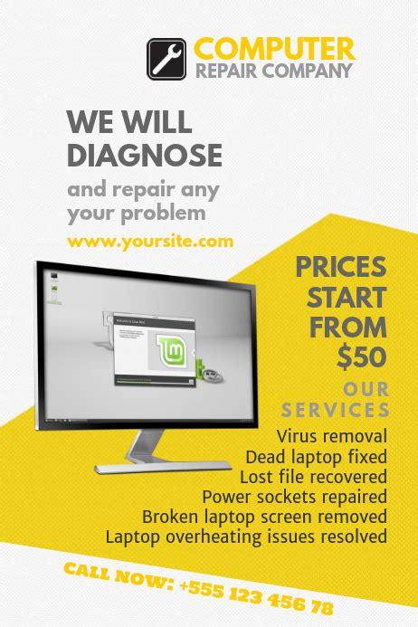 customize  computer repair templates postermywall