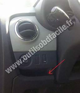 Obd2 Connector Location In Renault Lodgy  2012 -