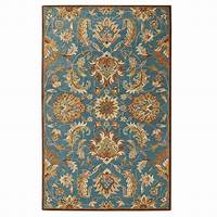 home depot rugs Home Decorators Collection Vogue Teal Blue 9 ft. x 12 ft ...