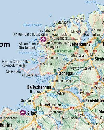 map   donegal ireland ireland pinterest ireland