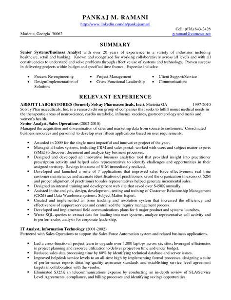 Business Analyst Summary Statement by Senior Data Analyst Cv Resume Format Best Resume Templates