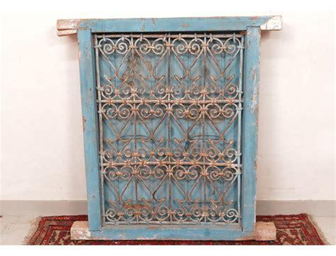 fen 234 tre marocaine grille fer forg 233 bois peint maroc maghreb atlas d 233 co xx 232
