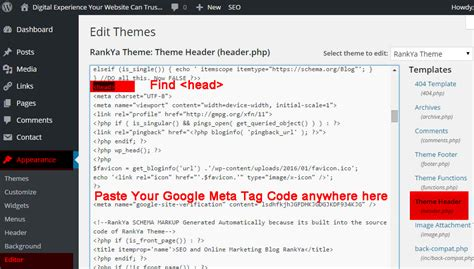 How To Verify Wordpress Site In Google Webmaster Tools