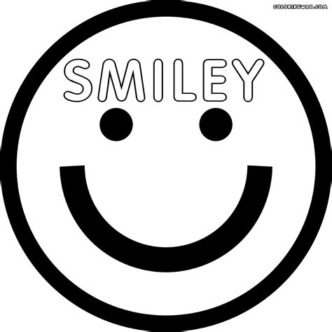 smiley face coloring pages coloring pages