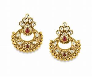 Buy Antara Chandbali Gold Earring for Women Online Best