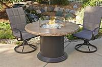 fire pit dining table Outdoor Greatroom Colonial Dining Height Fire Pit Table ...