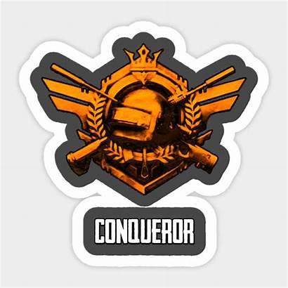 Pubg Conqueror Rank Mobile Clip Sticker Teepublic