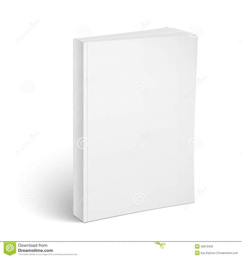 blank vertical softcover book template stock vector