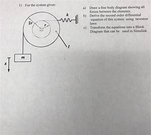 Solved  1  For The System Given  Draw A Free Body Diagram