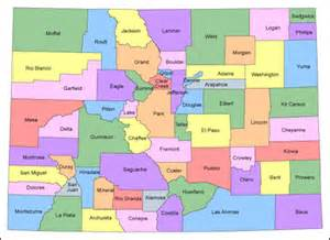 Colorado Maps with Counties and Cities