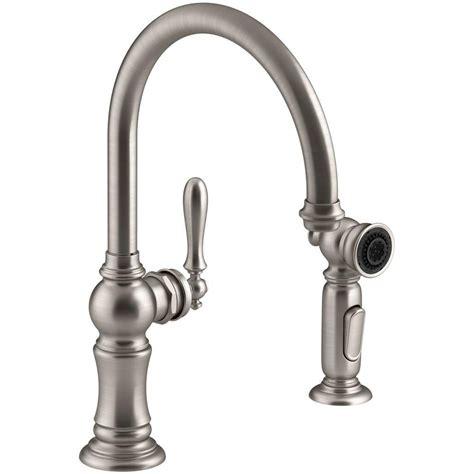 kitchen faucet spout kohler artifacts single handle standard kitchen faucet