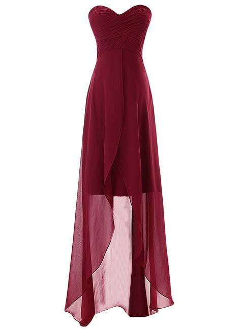 womens elegant pleated sleeveless high  chiffon prom
