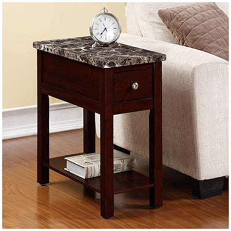 big lots end table ls espresso finish faux marble chairside table big lots