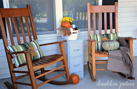 front porch rocking chairs comforts of home fall front porch 2014 dandelion patina