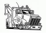 Coloring Truck Tow Trucks Semi Pages Drawing Printables Transportation Grain Clip Peterbilt Wuppsy Tractor Clipart Colouring Printable Cartoon Drawings Template sketch template